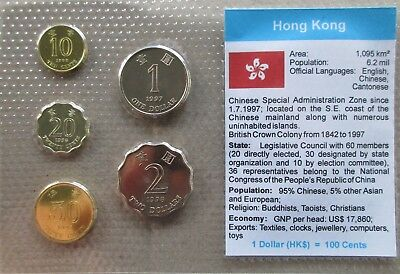 Hong Kong...5 Uncirculated Coins......in Plastic Cover