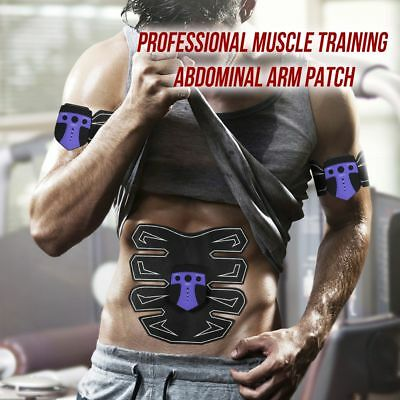 New Full Set EMS Muscle Training Gear Stimulator Abdominal Abs Slimming Kits set