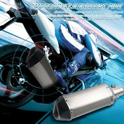 38-51mm Motorcycle Exhaust Muffler Pipe Removable DB Killer Silencer Universal T
