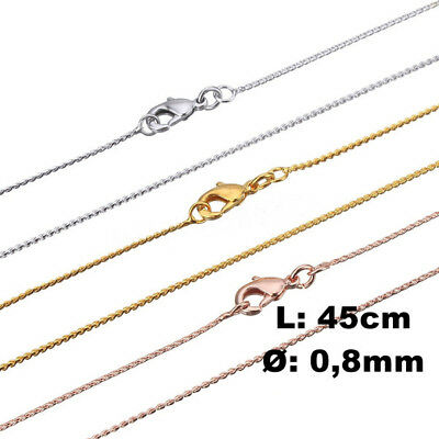 Braid Necklaces SILVER - Gold or Pink Ø0 , 8mm 45cm