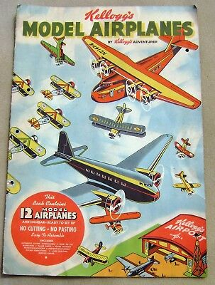 Vintage 1937 Kellogg's Model Airplane Brochure - Gameboard