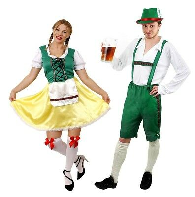 (Mens Small + Ladies Xx-Large) - Couples Bavarian Beer Festival Fancy Dress