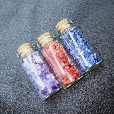 Mini Gemstone Wish Bottles Chips Crystal Healing Tumbled Reiki Wicca Stone Sets