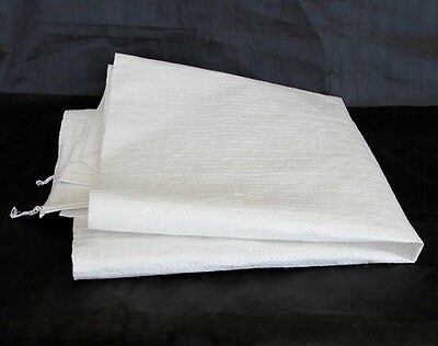 White Polywoven Bags 70gsm 760mm x 460mm x10Pk Pebbles Firewood Garden Materials