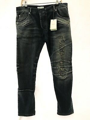 34ad3cf7 100% AUTHENTIC PIERRE Balmain Black Jeans Skinny Size 30 L34 rrp ...