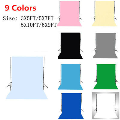 Solid Color Polyester Studio Prop Photography Backdrop Photo Background for Home