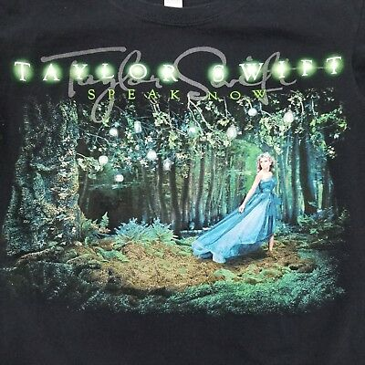 Taylor Swift Speak Now World Concert 2011 Country Music Band Forest TShirt S