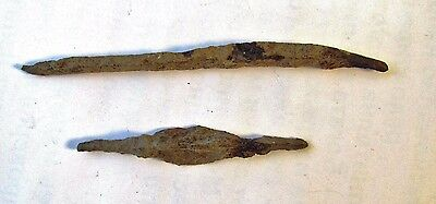 Lot of 2 ANTIQUE ANCIENT ROMAN ARTIFACT - IRON ARROWHEAD Arrow Head