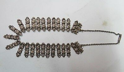 Old European Silver Filigree Necklace