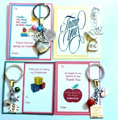 Thank you gift for Teacher & General Thank you Gifts Key Ring choice of Design