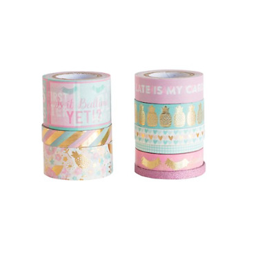 Recollections Washi Tape Tube UPTOWN CHIC EYELASHES GOLD 9 rolls washi planner