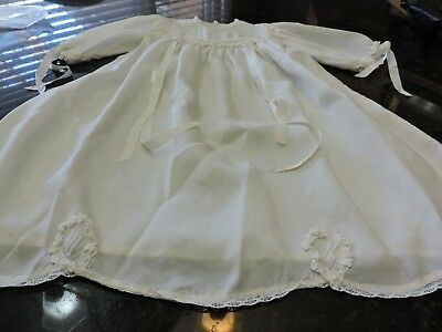 Spectacular vintage silk Baby gown  silk and lace Baby gown Christening