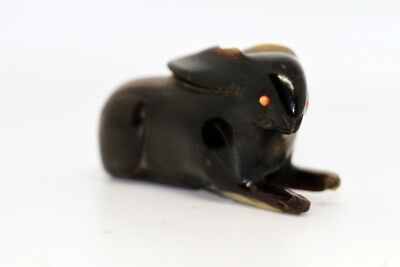 "Antique Netsuke ""RABBIT"" baffalo hone made EDO period"