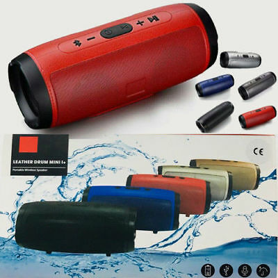 Bluetooth Speaker Portable Wireless Splashproof Super Bass Stereo Loudspeakers
