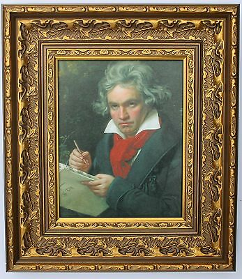 Beethoven Framed Oleograph R512B#E   - Composer - Reproduction Picture
