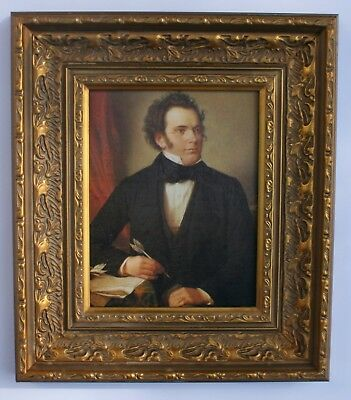 Franz Schubert Framed Oleograph  - Reproduction Picture