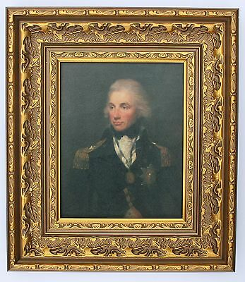 Lord Nelson Framed Oleograph R581#E  - Reproduction Picture