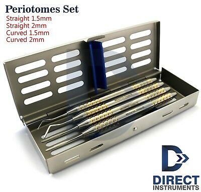Dental Periotomes Atraumatic Extraction Periodontal Ligament PDL Cut + Cassette