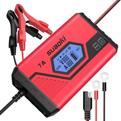 SUAOKI ICS7+ 12V Battery Charger/Maintainer 7A Fast/3.5A Slow Fully Automatic