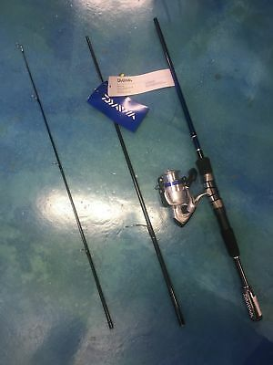 Daiwa D Shock Travel Rod & Reel Combo - 3 Piece Combos