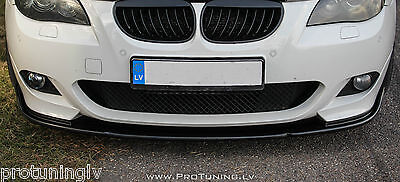Splitter for BMW E60 E61 Spoiler Lip M Sport Front Bumper chin Power apron Tech