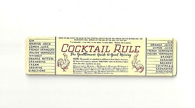 RARE Collectible 1933 COCKTAIL RULE, The Gentleman's Guide to Good Mixing