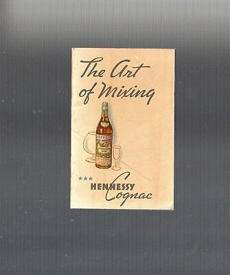 RARE Collectible ART DECO 1934: THE ART OF MIXING, HENNESSY COGNAC Recipe Book