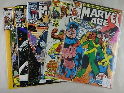 Marvel Age   5 Pc Lot   High Grade   X-Factor   Star-Lord   X-Men   Punisher