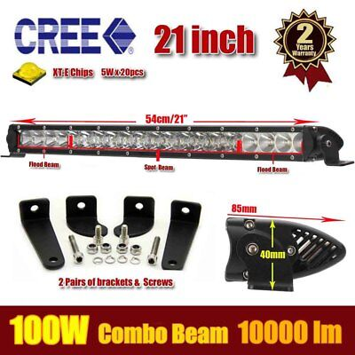 "21"" 100W LED Work Light Bar Flood Spot Beam Combo 4WD 4X4 Off Road Jeep SUV Boat"