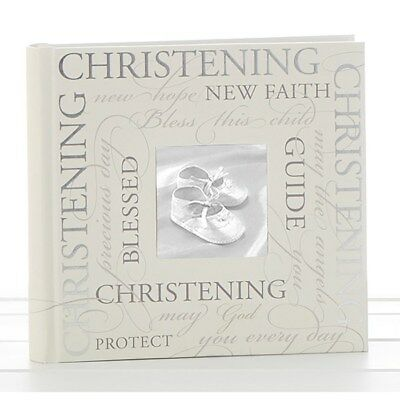 Christening Photo Album With Sentiments Gift 6 x 4