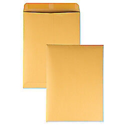 Quality Park(R) Catalog Envelopes With Gummed Closure, 9in. x 12in., Brown, Box