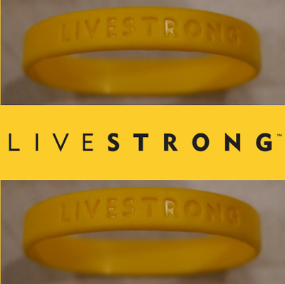 NEW LIVESTRONG LIVE STRONG BRACELET WRISTBAND - Free Shipping
