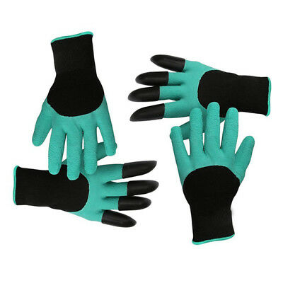 2 pairs Garden gloves for digging and planting, Nursery plants Durable anti A2B6