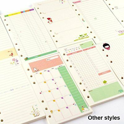DadaCraftsTM A6 To-Do List Planner Organizer Refills Papers for 6-Rings Binder
