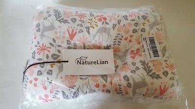 Baby Pillow For Newborn Breathable 3-Dimensional Air Mesh Organic Cotton Pink