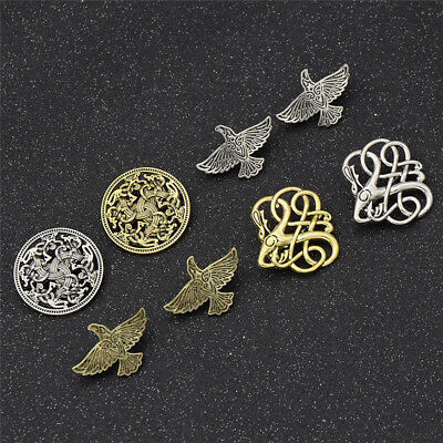 Norse Nordic Viking Style Brooch Pin Shirt Lapel  Charms Chic Fashion Jewelry