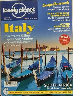 Lonely Planet Traveller UK July 2017 Italy Milan Venice Guide FREE SHIPPING sb