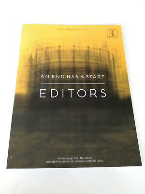 "Editors - ""An End Has A Start"" Guitar Songbook Tab - Gitarre - TOP-"