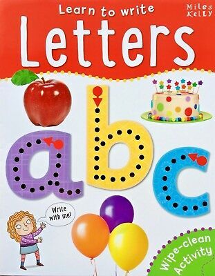 Learn To Write | Letters | Wipe Clean Activity | Miles Kelly | New | Free Post