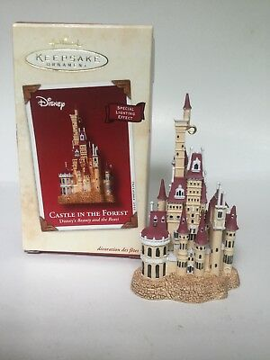 Hallmark Ornament Castle In The Forest Beauty And The Beast Disney 2002 New