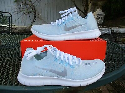 33f45345e057a WMNS NIKE FREE Rn Flyknit 2017 Running 880844 012 Mult Sizes Pure Platinum  Blue -  59.99