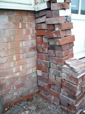 """USED WITHNELL TRRACOTTA 75 mm (3"""") RED FACE BRICKS"""