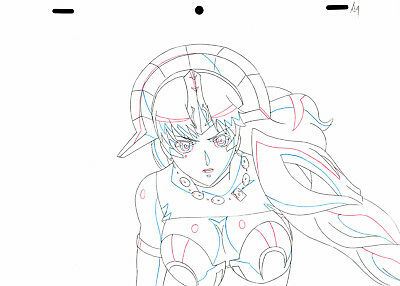 SALE! Anime Douga Not Cel: Queen's Blade #400 (Set of 1 Production Sketch)