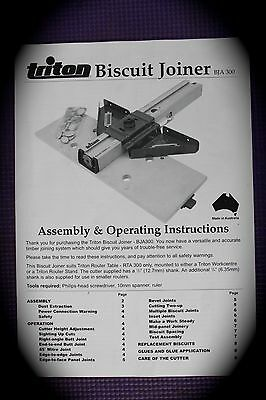 Triton biscuit joiner Assembly and operation instructions Manual
