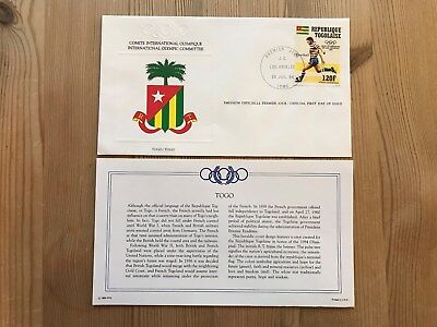 Togo Fdc 1984 Franklin Los Angeles Olympics Ltd Ed Rare Football Soccer