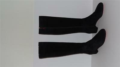 ec2d43691bbe  1295 Christian Louboutin Liliboot 30 Black Suede Knee High Boots Size 39.5