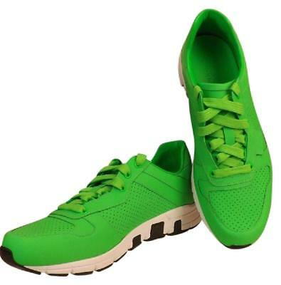 0a5ceb95cfe Nib Gucci Neon Green Leather Ipanema Lace Up 369088 Running Sneakers 10 Us  11