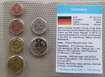 Germany...6 Uncirculated Coins......in Plastic Cover