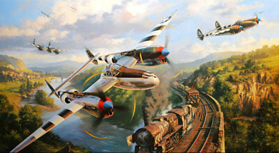 Art wall HD prints oil painting on canvas ww2 war Retro Vintage Fighter Gifts