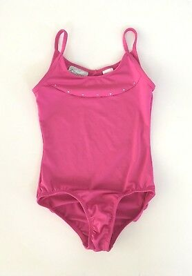 Freestyle Danskin Girls Leotard Medium 7/8 Dance Gymnastics Pink Sleeveless